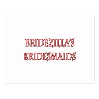 Las damas de honor de Bridezilla Tarjetas Postales