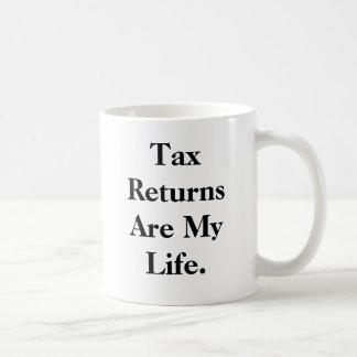 Las declaraciones de impuestos son mi vida…. - taza clásica