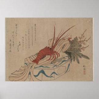 Las decoraciones japonesas del Año Nuevo del arte