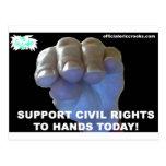 Las derechas civiles de las manos tarjetas postales