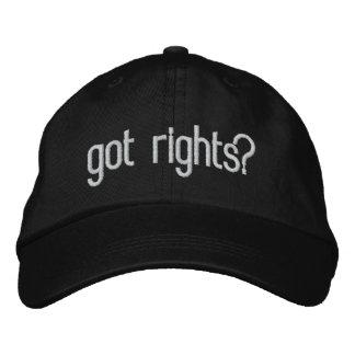 ¿las derechas conseguidas? gorras de béisbol bordadas