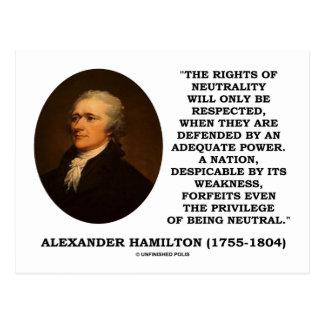 Las derechas de Alexander Hamilton del poder de la Postal