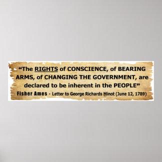 Las derechas de la cita de Fisher Ames de la gente Poster
