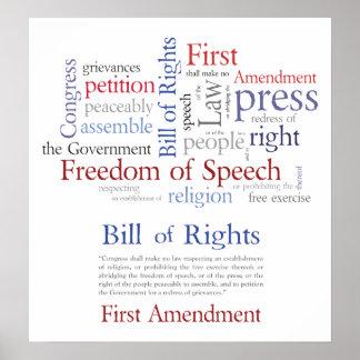 Las derechas de la Primera Enmienda - libertad de  Posters