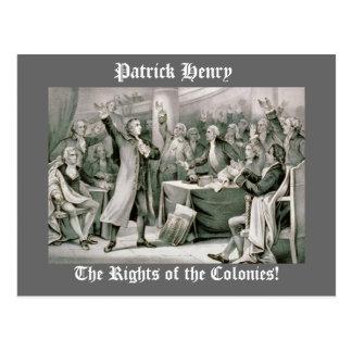 ¡Las derechas de las colonias! Tarjeta Postal