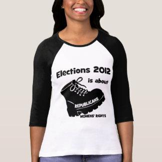 las derechas de las mujeres de la elección 2012 camisas