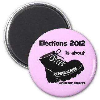 las derechas de las mujeres de la elección 2012 imán redondo 5 cm