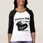 las derechas de las mujeres de la elección 2012 camisetas