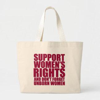 Las derechas de las mujeres nonatas bolsas de mano