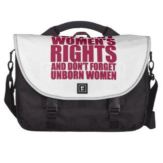 Las derechas de las mujeres nonatas bolsas para ordenador