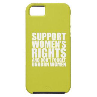 Las derechas de las mujeres nonatas iPhone 5 carcasa