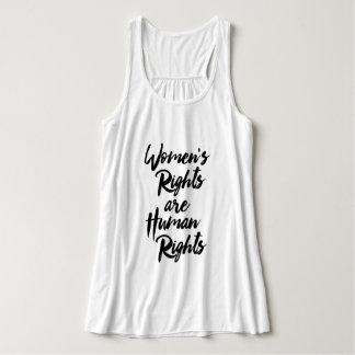 Las derechas de las mujeres son derechos humanos playera con tirantes