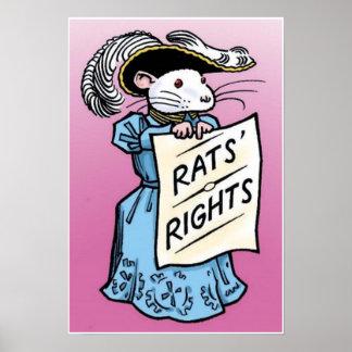 Las derechas de las ratas póster