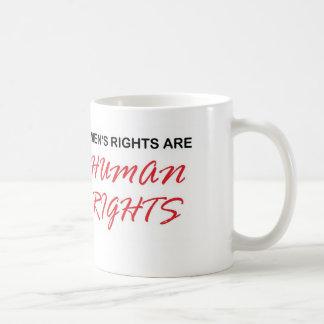 Las derechas de los hombres son taza de los derech
