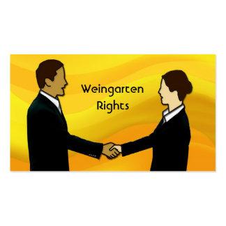 Las derechas de Weingarten Plantillas De Tarjetas Personales