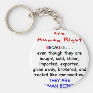 Las derechas del adoptado son derechos HUMANOS Llavero Redondo Tipo Pin