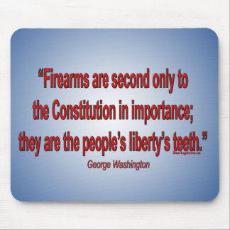 Las derechas del arma - George Washington Tapete De Raton