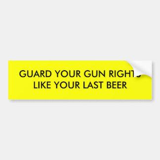 Las derechas del arma pegatina de parachoque