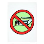Las derechas del tabaco invitación 12,7 x 17,8 cm