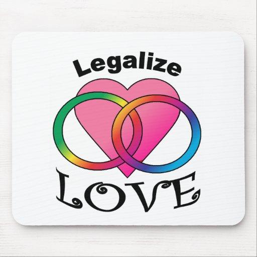 Las derechas gay de Marriage=Civil Alfombrillas De Ratón