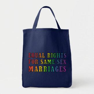 Las derechas iguales para las mismas bodas del sex bolsa tela para la compra