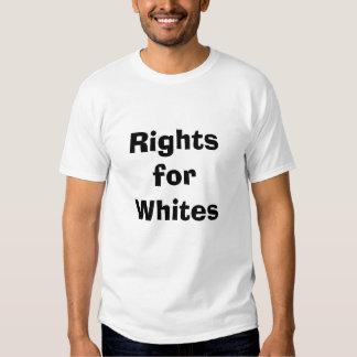 las derechas para los blancos poleras