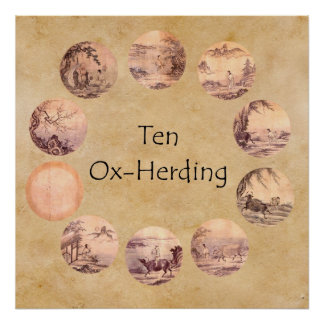 Las diez imágenes de Oxherding Póster