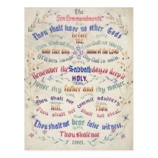 Las diez postales de los mandamientos