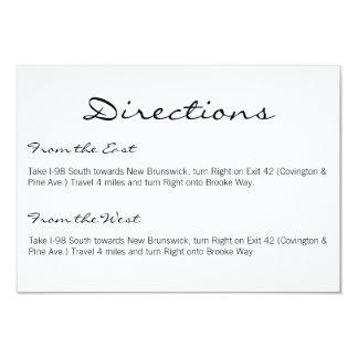 Las direcciones cardan el | Básico-blanco Invitacion Personalizada