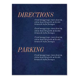 """Las direcciones cardan, información, casando el invitación 4.25"""" x 5.5"""""""