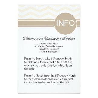 """Las direcciones elegantes del boda de Chevron Info Invitación 3.5"""" X 5"""""""