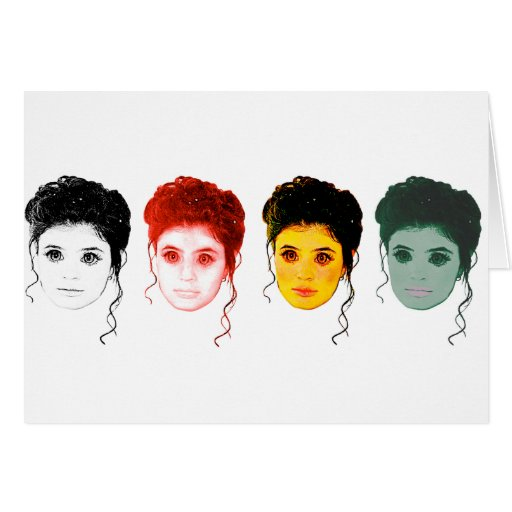 Las diversas caras de la tarjeta de felicitación d