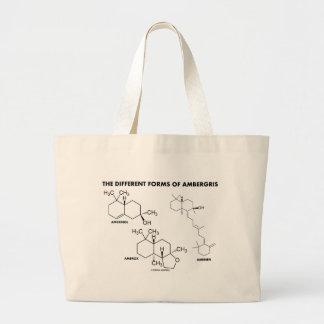 Las diversas formas de Ambergris (moléculas) Bolsa Tela Grande