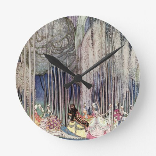 Las doce princesas de baile de Kay Nielsen Reloj De Pared