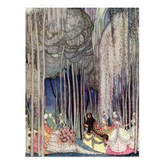 Las doce princesas de baile de Kay Nielsen Tarjetas Postales