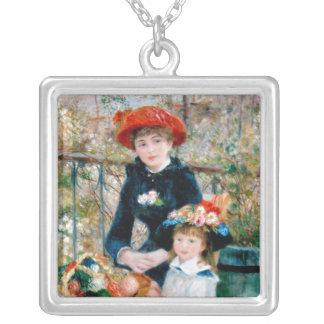 Las dos hermanas, en la terraza, Renoir Colgante Cuadrado