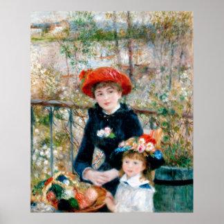 Las dos hermanas, en la terraza, Renoir Póster