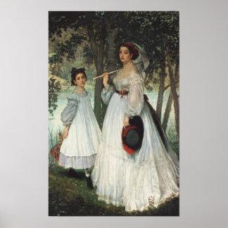 Las dos hermanas: Retrato, 1863 Posters