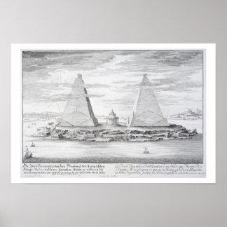 Las dos pirámides de Moeris, rey de Egipto y el su Impresiones
