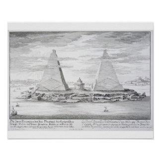 Las dos pirámides de Moeris, rey de Egipto y el su Poster