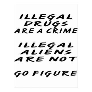 Las drogas ILEGALES son inmigrantes ilegales de un Postal