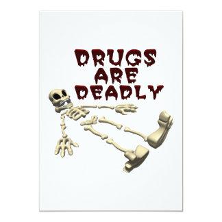 Las drogas son mortales invitación personalizada