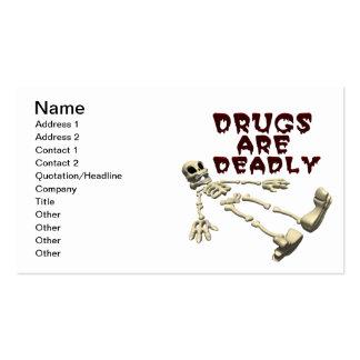 Las drogas son mortales tarjetas de visita