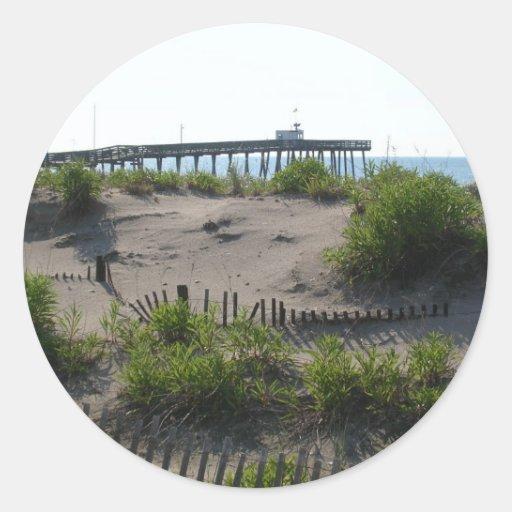 Las dunas etiquetas redondas