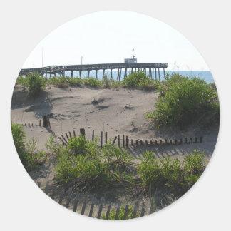 Las dunas pegatina redonda