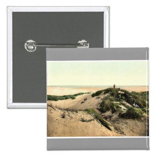 Las dunas, Sylt Listland, Westerland, Sylt, Schles Pin Cuadrada 5 Cm
