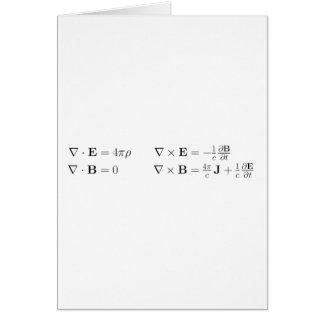 Las ecuaciones del maxwell, forma diferenciada, cg tarjeta de felicitación