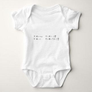 Las ecuaciones del maxwell, forma diferenciada, mameluco de bebé