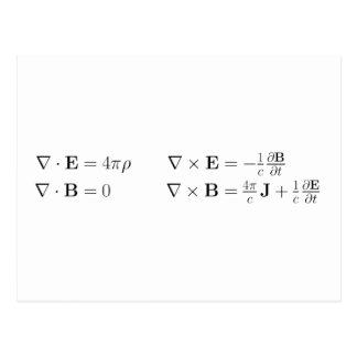 Las ecuaciones del maxwell, forma diferenciada, postal