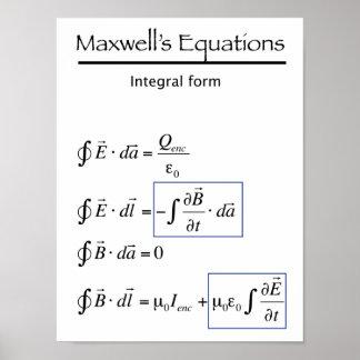 Las ecuaciones del maxwell - forma integral poster
